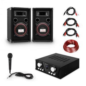 Electronic-Star Easy DJ Set Black, PA systém, PA zosilňovač, 2 x reproduktor, mikrofón, čierny vyobraziť