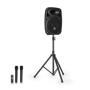 """Auna Streetstar 8, mobilný PA systém + statív, 8"""" woofer, UHF mikrofón, 200 W, čierny vyobraziť"""