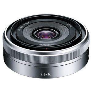 Sony E 16mm f/2.8 (APS-C, E-Mount), Strieborný vyobraziť