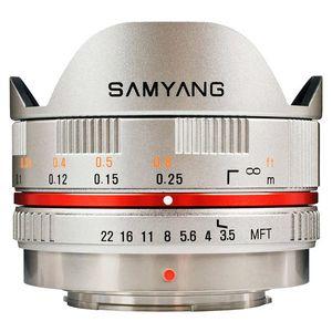 Samyang 7, 5mm f/3.5 UMC Fisheye, baj. Micro 4/3 Olympus/Panasonic, Strieborný vyobraziť