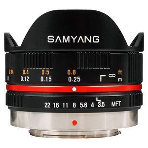 Samyang 7, 5mm f/3.5 UMC Fisheye, baj. Micro 4/3 Olympus/Panasonic, Čierny vyobraziť