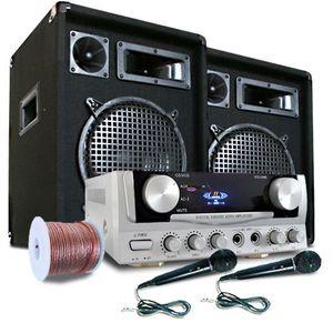 """Electronic-Star PA set """"READY 2 GO"""", repro, mikrofony, zesilovač 400W vyobraziť"""