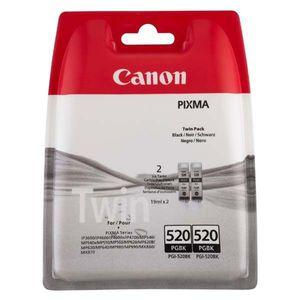 CANON PGI-520 BK - originálna cartridge, čierna, 2x19ml 2ks vyobraziť