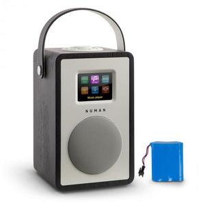 Numan Mini Two Design, internetové rádio, WiFi, DLNA, Bluetooth, FM, čierna vrátane nabíjacej batérie vyobraziť