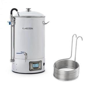 Klarstein Mundschenk + Aufwärtsspirale, sladový kotol a ponorný chladič, zariadenie na varenie piva, 2500 W, 30 l, 304 ušľachtilá oceľ vyobraziť