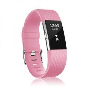 Fitbit Charge 2 Silicone Diamond (Small) remienok, Pink vyobraziť