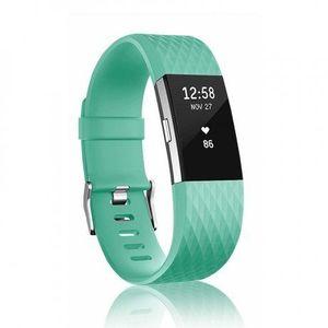 Fitbit Charge 2 Silicone Diamond (Small) remienok, Teal vyobraziť