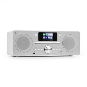 Auna Harvard, kompaktný systém, internetové/DAB+ a UKW-rádio, CD-prehrávač, bluetooth, biely vyobraziť