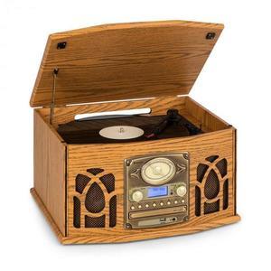 Auna NR-620, DAB, stereo systém, drevo, gramofón, DAB+, prehrávač CD, hnedý vyobraziť