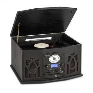 Auna NR-620, DAB, stereo systém, drevo, gramofón, DAB+, prehrávač CD, čierny vyobraziť
