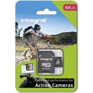 INTEGRAL Pamäťová karta pro Action Camera micro SDHC/SDXC 64GB (GoPro) INMSDX64G10-ACTION vyobraziť