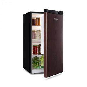Klarstein Feldberg, chladnička, A+, 90 l, MirageCool Concept, drevený dizajn, čierna vyobraziť