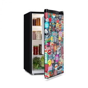 Klarstein Cool Vibe, chladnička, A+, 90 l, VividArt Concept, štýl manga, čierna vyobraziť