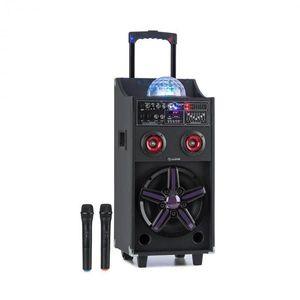 Auna DisGo Box 100, prenosný PA systém, 50 W RMS, BT, SD slot, LED diódy, USB, akumulátor, čierny vyobraziť
