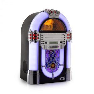 Auna Kentucky, jukebox, BT, FM rádio, USB, SD, MP3, CD prehrávač, biely vyobraziť
