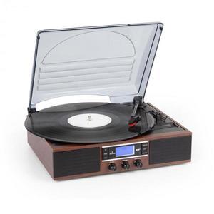 Auna TT-138 DAB, gramofón, DAB+/FM, remeňový pohon, 33/45 ot./min., linkový výstup vyobraziť