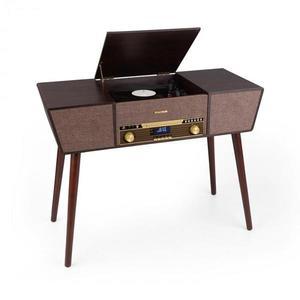 Auna Belle Epoque 1912, retro gramofón, CD, BT, USB, DAB+/FM, hnedý vyobraziť