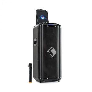 """Auna Moving 2100, PA systém, 2x10"""" woofer, 100/300 W, UHF mikrofón, USB, SD, BT, AUX, prenosný vyobraziť"""