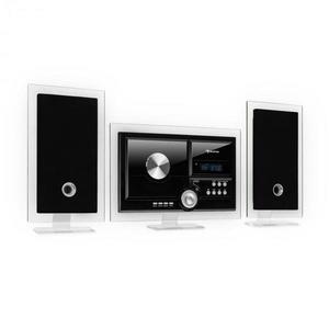 Auna Stereo Sonic, DAB+ stereo systém, DAB+, CD prehrávač, USB, BT, čierny vyobraziť