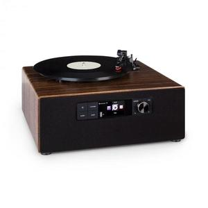 Auna Connect Vinyl Cube, gramofón, 40 W max., internet/DAB+/FM, USB, hnedý vyobraziť
