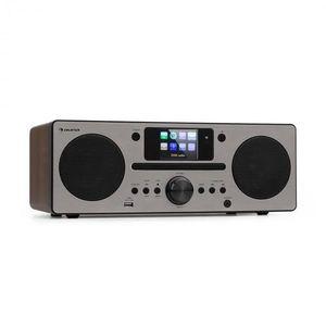 Auna Harvard, kompaktný systém, internetové/DAB+ a UKW-rádio, CD-prehrávač, bluetooth, orech vyobraziť