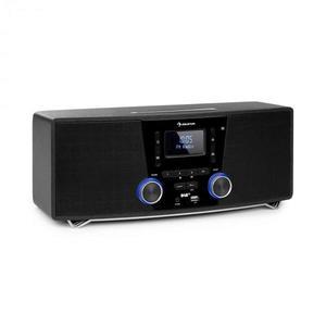 Auna Stockton, mikro stereo systém, max. 20W, DAB+, UKW, CD prehrávač, BT, OLED, čierny vyobraziť