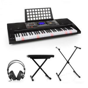 SCHUBERT Etude 450, set nácvičný elektronický klavír, štúdiové slúchadlá, stojan na klavír, stolička vyobraziť