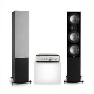 Numan Drive 801, stereo sada, stereo zosilňovač, vežový reproduktor, čierna/sivá vyobraziť
