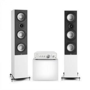 Numan Drive 801, stereo sada, stereo zosilňovač, vežový reproduktor, biela/biela vyobraziť