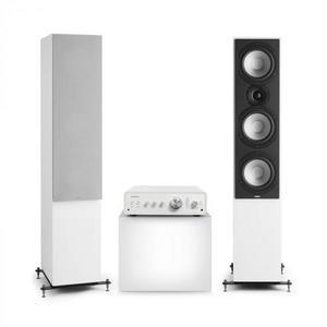 Numan Drive 801, stereo sada, stereo zosilňovač, vežový reproduktor, biela/sivá vyobraziť