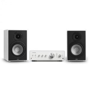 Numan Drive 802, stereo sada, stereo zosilňovač, regálový reproduktor, biela/biela vyobraziť