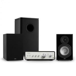 Numan Drive 802, stereo sada, zosilňovač, regálový reproduktor, subwoofer, kryt, čierna vyobraziť