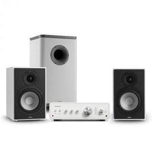 Numan Drive 802, stereo sada, zosilňovač, regálový reproduktor, subwoofer, BT 5.0, biela vyobraziť