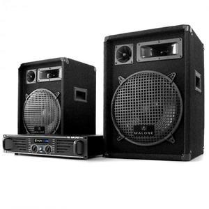 Electronic-Star DJ PA set Marakesh Lounge, repro, zosilňovač vyobraziť