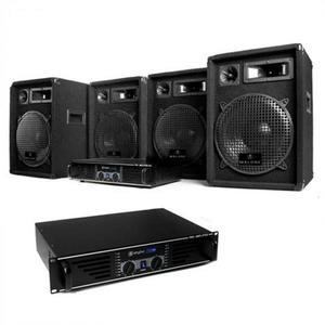 """Electronic-Star Kompletná DJ PA sada """"Miami Nights Pro"""", 2 x zosilňovač, 4x reproduktor vyobraziť"""