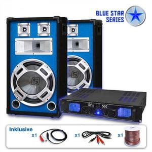 "Electronic-Star Reproduktorový set Blue Star Series ""Basskick"", 1600 W vyobraziť"