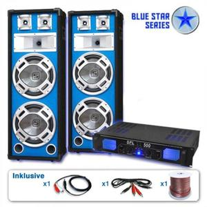 "Electronic-Star PA set Blue Star Series""Bassveteran"", 1600 W vyobraziť"