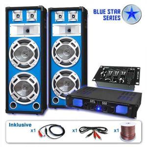Electronic-Star Ozvučovací set Blue Star Series Bassveteran USB, 1200 W vyobraziť