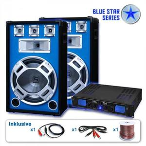 "Skytronic PA set Blue Star Series""Beatstar"", 2000 W vyobraziť"