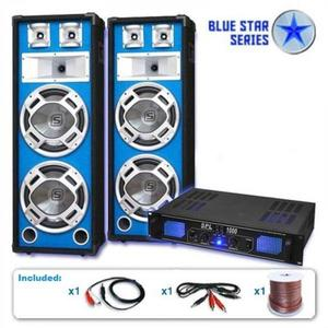 "Electronic-Star PA set Blue Star Series ""Basskern"", 2800 W vyobraziť"