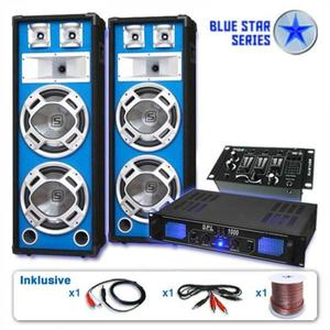Electronic-Star Ozvučovací set Blue Star Series Basskern USB, 2800 W vyobraziť