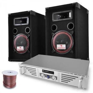 "Electronic-Star DJ PA sada ""Funky Breakbeats"", AMP, reproduktory, 1000 W vyobraziť"