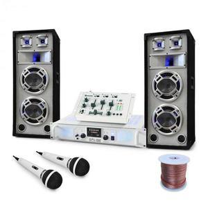 """Electronic-Star DJ PA set """"Polar Bear"""", mixážny pult, zosilňovač reprá 2200W vyobraziť"""