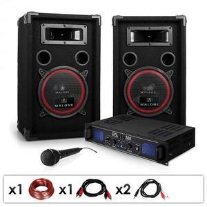 Electronic-Star Ozvučovací set DJ-14, zosilňovač, reproduktory, 1000 W vyobraziť