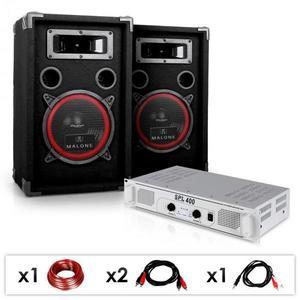 "Electronic-Star DJ PA SET ""DJ-15"" PA zosilňovač, SPEAKER, 1000W vyobraziť"