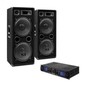 """Electronic-Star DJ sada """"DJ-20"""" PA zosilňovač, PA reproduktor, 2000 W vyobraziť"""