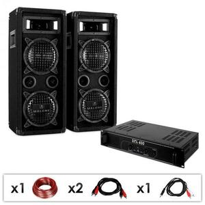 Electronic-Star Ozvučovací set DJ-24, zosilňovač, reproduktory, 1200 W vyobraziť