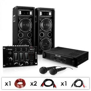 """Electronic-Star DJ PA set """"DJ–24M"""", zosilňovač, mixážny pult, repro, 1200W vyobraziť"""