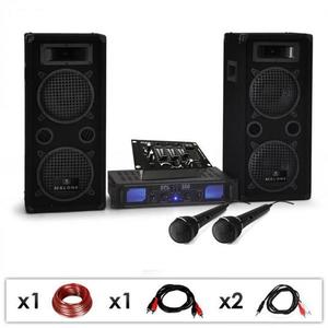 Electronic-Star DJ set DJ-25M, zosilňovač, reproduktory, mixpult, 1600 W vyobraziť