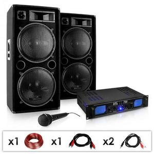 Electronic-Star DJ PA set DJ–26, zosilňovač, PA repro, mikrofón, 2000 W vyobraziť